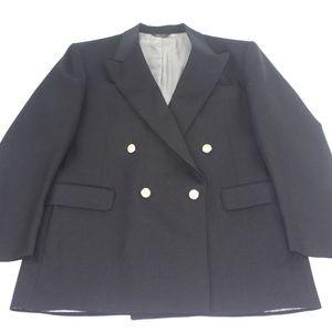 Stafford Black Blazer Jacket Bronze/Gold Button 42